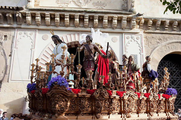 Cordoba Print featuring the photograph Jesus Christ And Roman Soldiers On Procession by Artur Bogacki