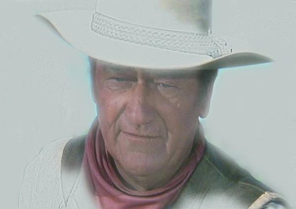 John Print featuring the painting John Wayne by Randy Follis