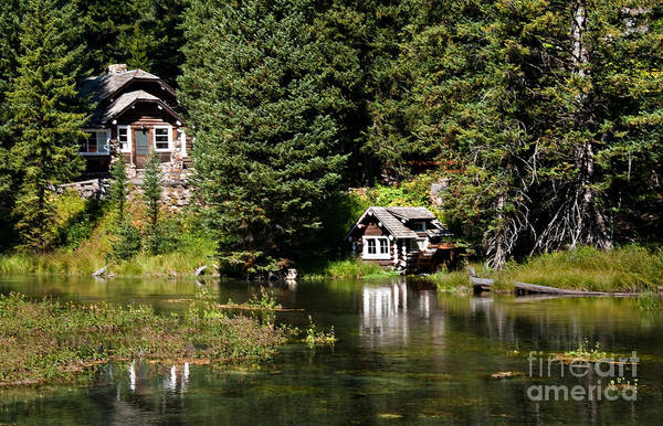 Idaho Print featuring the photograph Johnny Sack Cabin by Robert Bales