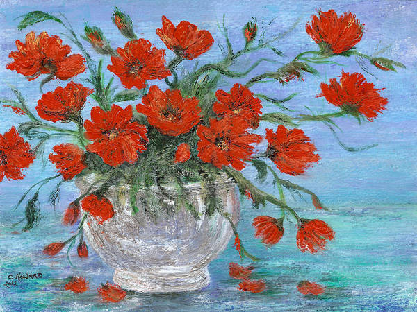 Catherine Howard Fine Art Print featuring the painting Jubilee Poppies by Catherine Howard
