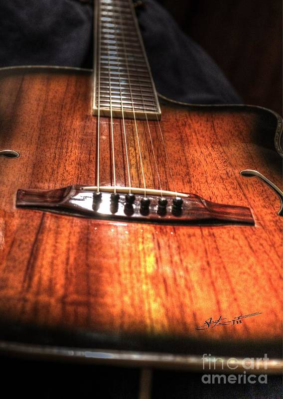 Acoustic Print featuring the photograph Just Music Digital Guitar Art By Steven Langston by Steven Lebron Langston