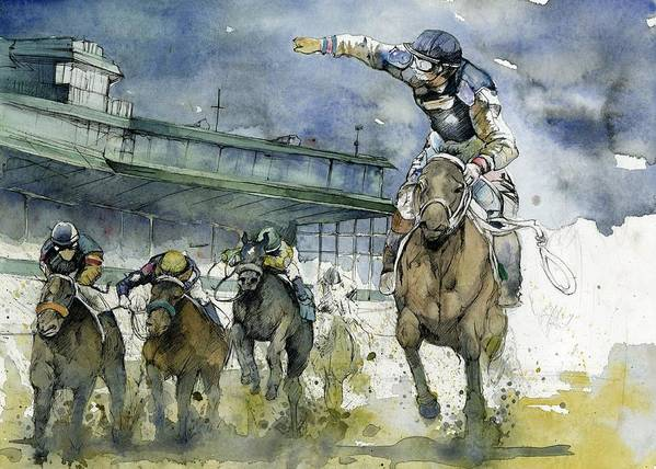Horse Print featuring the painting Keeneland by Michael Pattison
