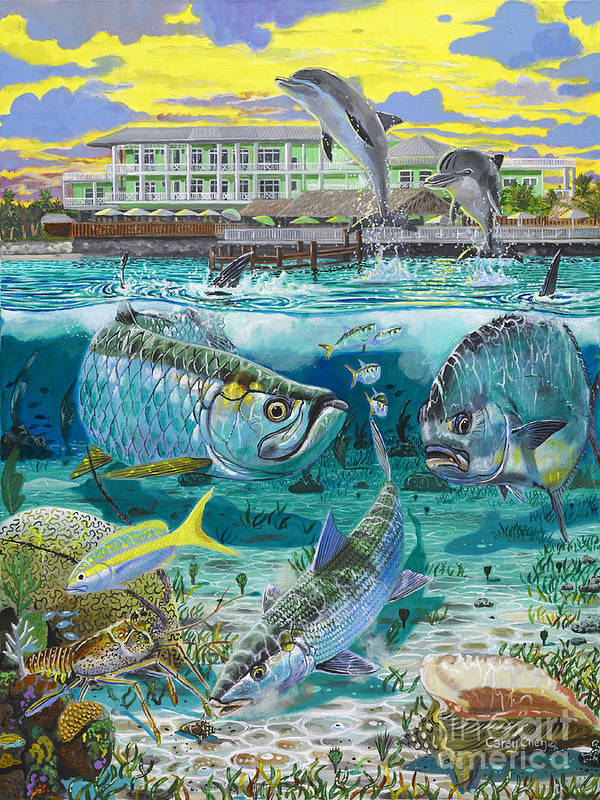 Grand Slam Print featuring the painting Key Largo Grand Slam by Carey Chen
