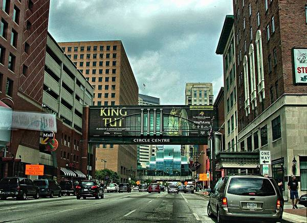 Downtown Print featuring the photograph King Tut In Indy by Julie Dant