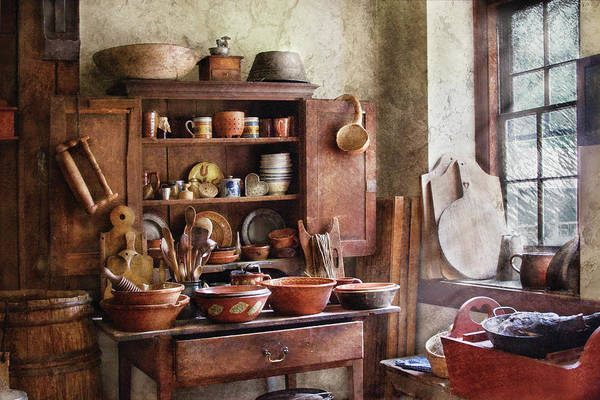 Savad Print featuring the photograph Kitchen - For The Master Chef by Mike Savad