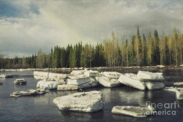 Klondike Print featuring the photograph Klondike River Ice Break by Priska Wettstein