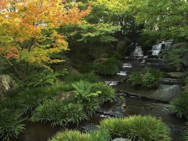 Japan Print featuring the photograph Kokoen Garden Waterfall - Himeji Japan by Daniel Hagerman
