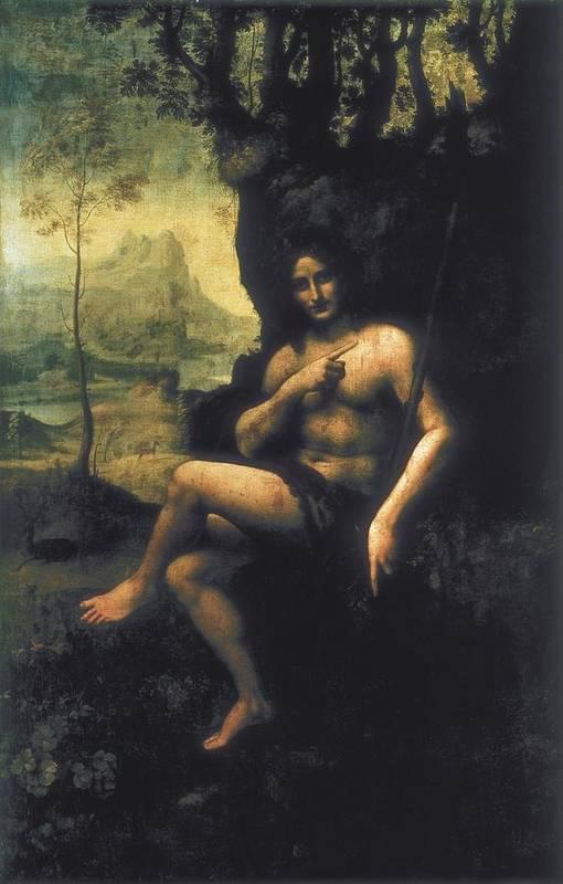 Vertical Print featuring the photograph Leonardo Da Vinci, School Of First Half by Everett