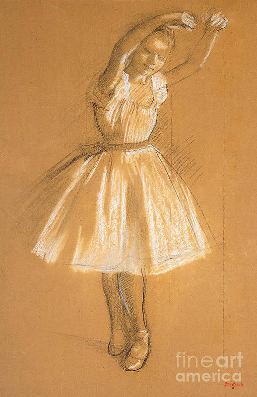 Petite Danseuse Print featuring the drawing Little Dancer by Edgar Degas