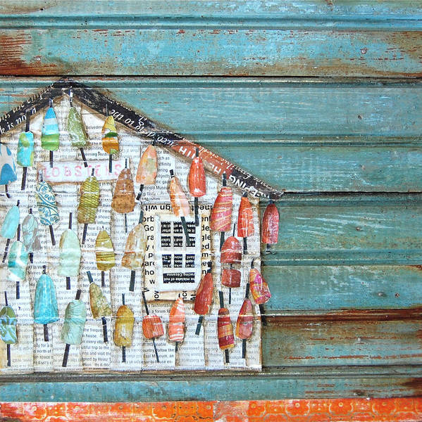 Lobster Shack Print featuring the mixed media Lively Lives by Danny Phillips