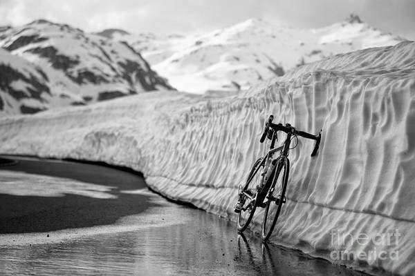 Bicycle Print featuring the photograph Lonely Bike by Maurizio Bacciarini