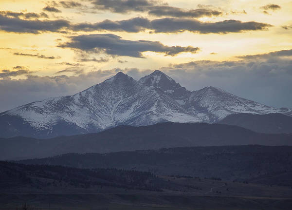 Longs Print featuring the photograph Longs Peak 3 by Aaron Spong