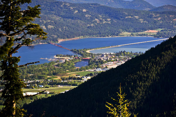 Sandpoint Print featuring the photograph Looking Down On Sandpoint by Albert Seger