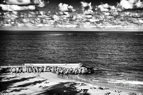 Looking Out Into The Ocean Print featuring the photograph Looking Out Into The Ocean by John Rizzuto