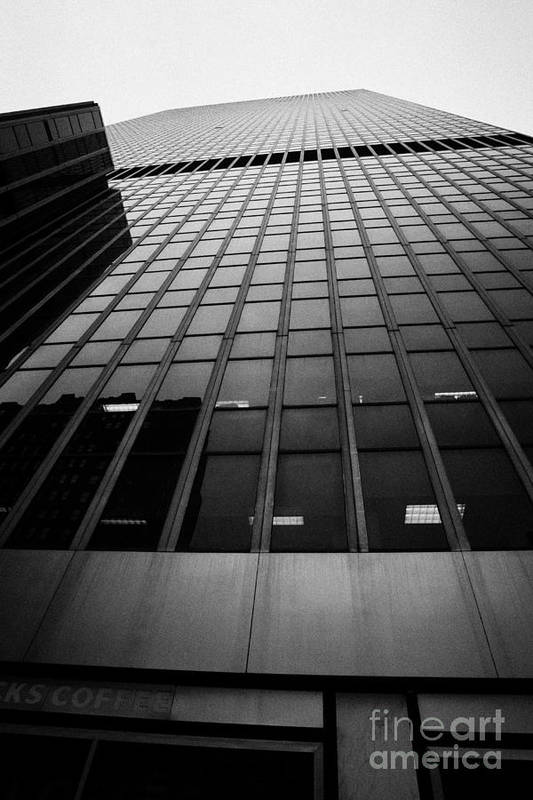 Usa Print featuring the photograph Looking Up At 1 Penn Plaza On 34th Street New York City Usa by Joe Fox