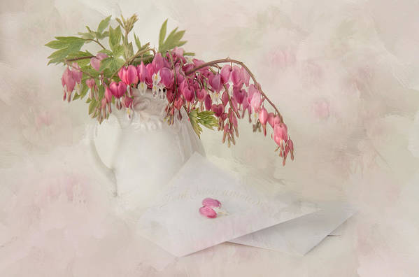 Bleeding Heart Print featuring the photograph Love Letters by Robin-lee Vieira