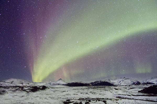 Aurora Print featuring the photograph Magical Night by Evelina Kremsdorf