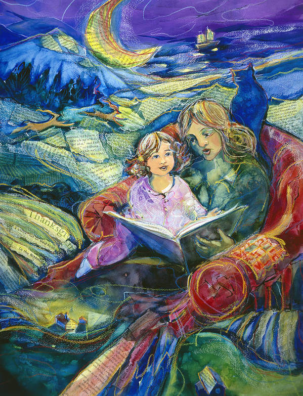 Jen Norton Print featuring the painting Magical Storybook by Jen Norton