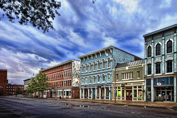 Architecture Print featuring the photograph Main Street Usa by Tom Mc Nemar