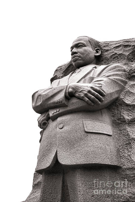 Washington Print featuring the photograph Martin Luther King Memorial Statue by Olivier Le Queinec