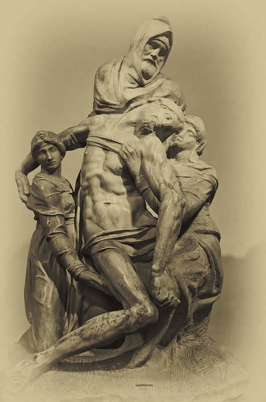 Architecture Art Print featuring the photograph Michelangelo's Florence Pieta by Melany Sarafis