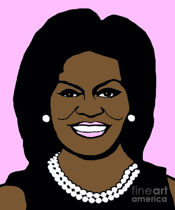 Michelle Print featuring the photograph Michelle Obama by Jost Houk