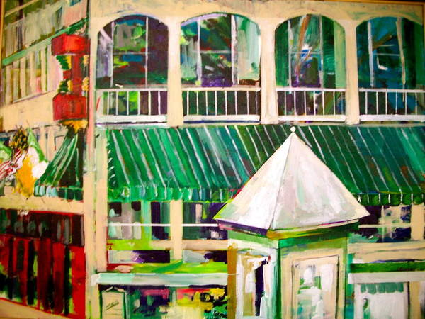 Architecture Print featuring the painting Mimihane's On Main by Carol Mangano
