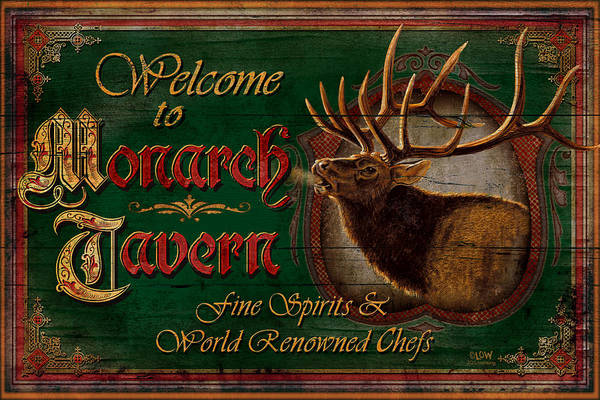 Joe Low Print featuring the painting Monarch Tavern by JQ Licensing