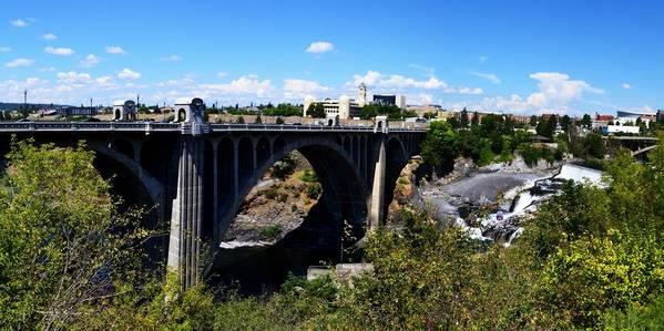 Spokane River Print featuring the photograph Monroe Street Bridge - Spokane by Michelle Calkins