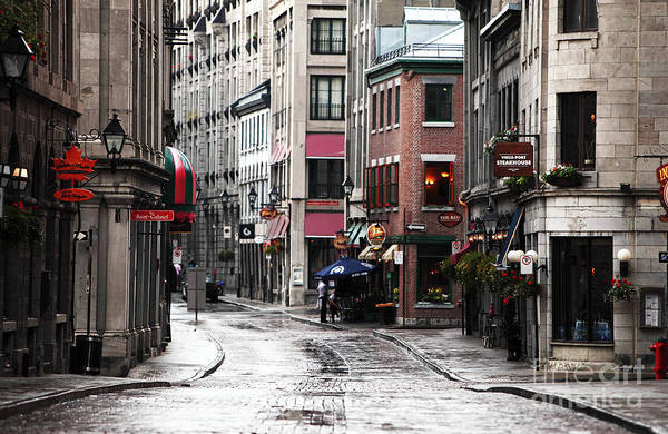 Montreal Street Scene Print featuring the photograph Montreal Street Scene by John Rizzuto