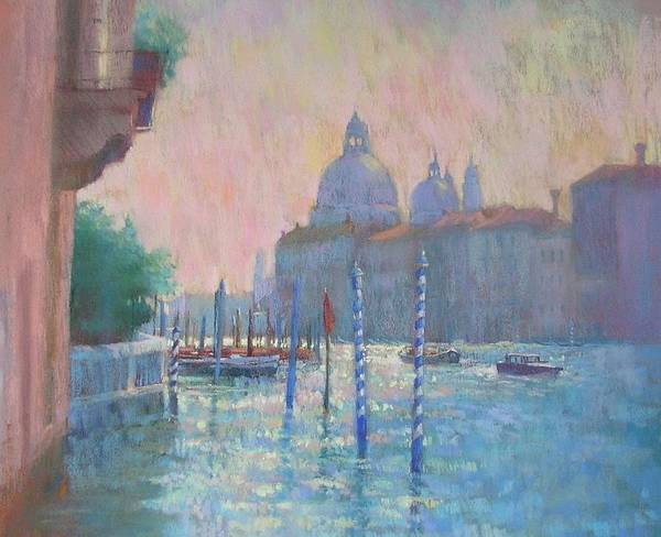 Venice Print featuring the painting Morning Light From The Academia Bridge by Jackie Simmonds