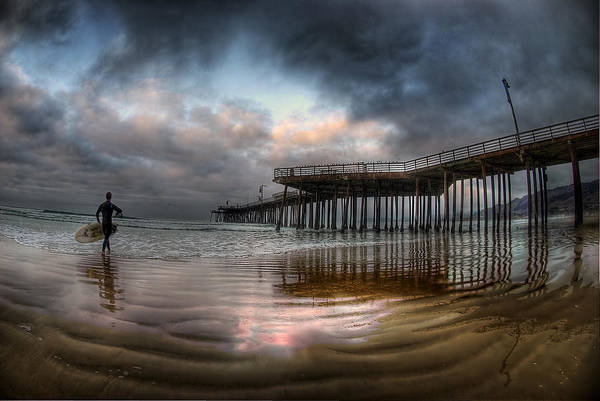 Pismo Beach Print featuring the photograph Morning Session In Pismo by Sean Foster
