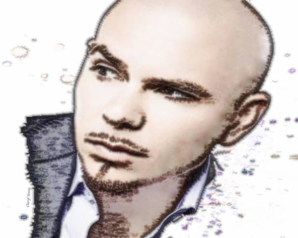 Pitbull Print featuring the photograph Mr 305 by Cheryl Young