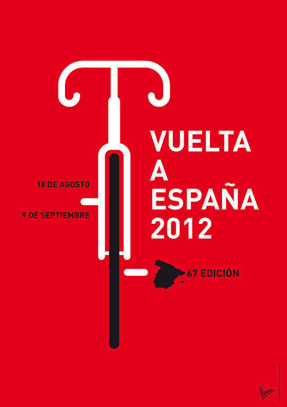 2012 Print featuring the digital art My Vuelta A Espana Minimal Poster by Chungkong Art