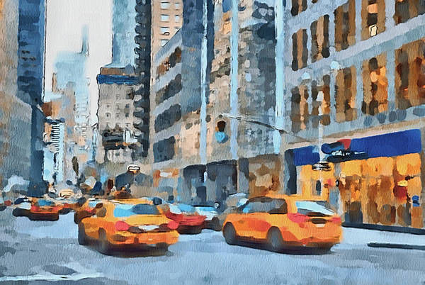 New Print featuring the digital art New York 2 by Yury Malkov
