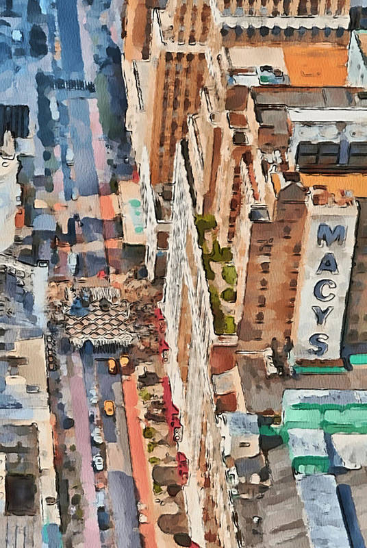 New Print featuring the digital art New York 5 by Yury Malkov