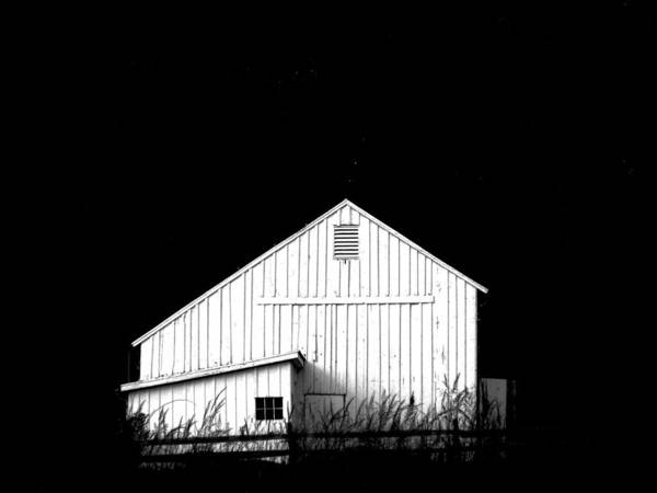White Barns Print featuring the photograph Nightfall by Angela Davies