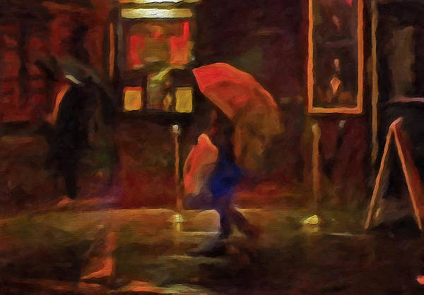 Nightlight Print featuring the painting Nightlife by Michael Pickett
