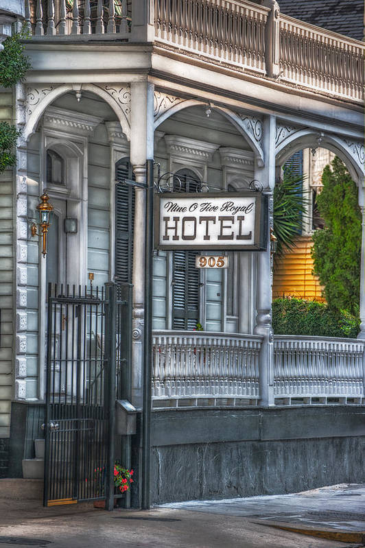New Orleans Print featuring the photograph Nine O Five Royal by Brenda Bryant
