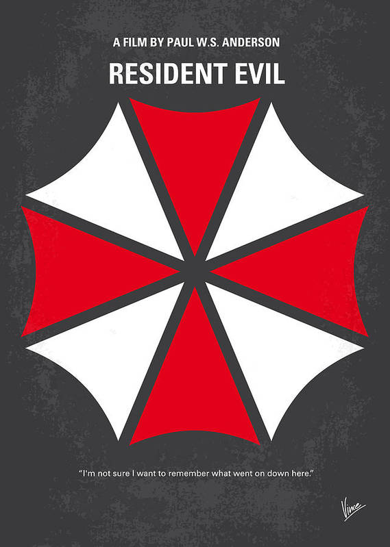 Resident Print featuring the digital art No119 My Resident Evil Minimal Movie Poster by Chungkong Art