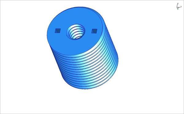 Nut Print featuring the ceramic art Nut 3d -- Mechanical Brick by Pop Horea-Vasile