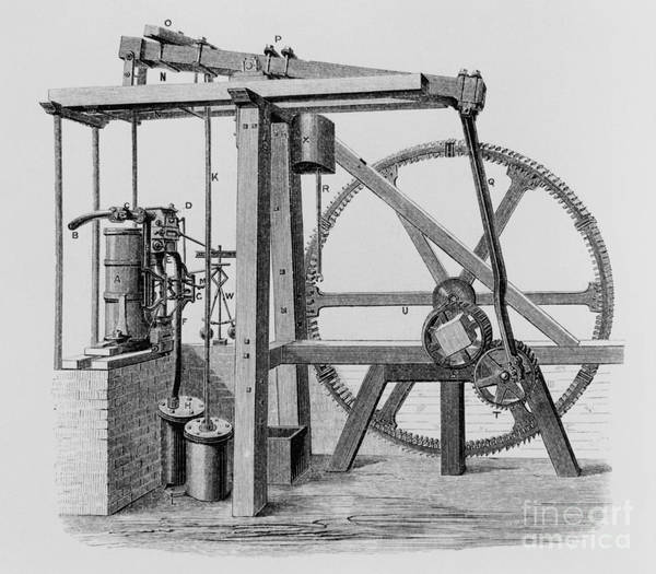 Engine Print featuring the photograph Old Bess Steam Engine by SPL and Science Source