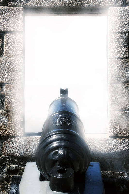 Iron Print featuring the photograph Old Cannon by Joana Kruse