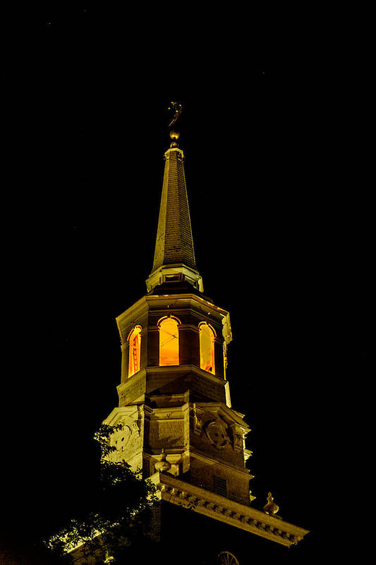 First Friday Print featuring the photograph Old Christ Church by Louis Dallara