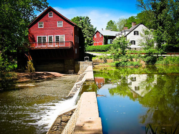 Grist Mill Print featuring the photograph Old Grist Mill by Colleen Kammerer