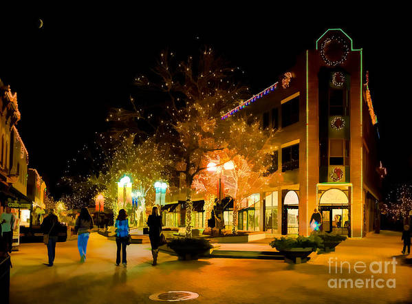 Old Town Print featuring the photograph Old Town Christmas by Jon Burch Photography