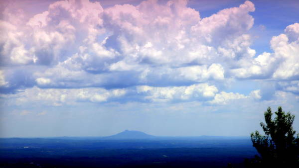 Pilot Mountain Print featuring the photograph On A Clear Day by Karen Wiles