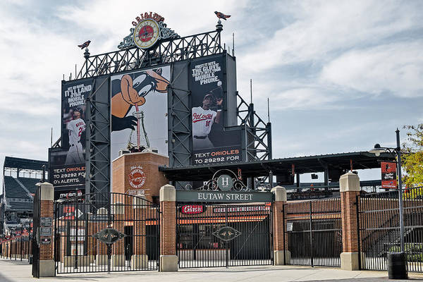 Baltimore Print featuring the photograph Oriole Park At Camden Yards by Susan Candelario