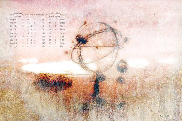 Orrery Print featuring the digital art Orrery by Bob Orsillo