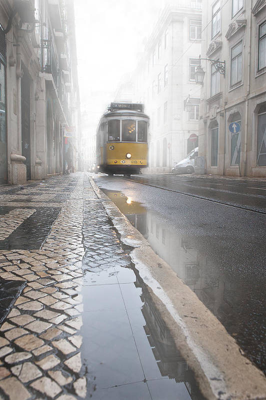 Lisbon Print featuring the photograph Out Of The Haze by Jorge Maia